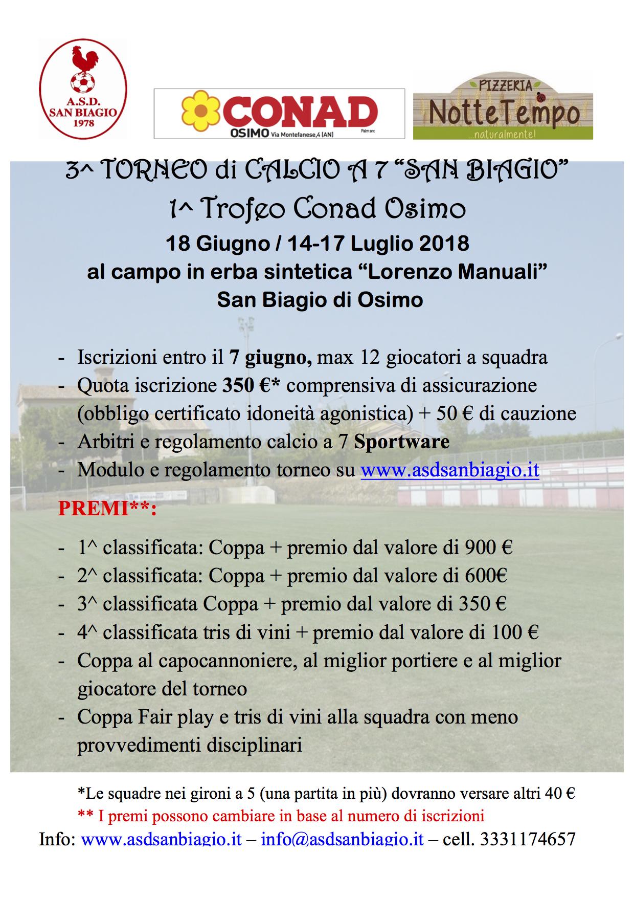 Calendario Torneo A 7 Squadre.Ecco Il Calendario Del 3 Torneo C 7 San Biagio Primo Trofeo