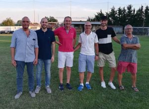 Da sinistra il vicepresidente Giampieri, l'assessore Andreoli e i dirigenti Maiolino, Gianni e Nicola Cecati e Mirco Mosca