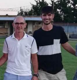 Gianni Cecati a sinistra con il figlio Nicola