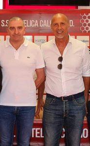 A sinistra Canil patron dell'Ancona Matelica, a destra Pizzi resp. settore giovanile Junior An